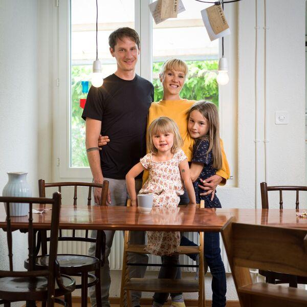 Beda, die Kinder und seine Frau Rahel, Brustkrebs Betroffene
